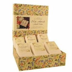 Floral Notes Gift Set- Lavender, Tuberose, Musk, Water Lily, Lilac and Rose Soaps, 100 Gr Each (3.5 Oz) by Nesti Dante. $43.00. No testing on animals. Imported from Florence, Italy. Made by Nesti Dante according to strict adherence to quality and ingredients. Evocative scents for this gorgeous gift set of all natural soaps. NESTI DANTE Luxury Soaps of Florence - Probably one of the world's best soaps! From Florence, ITALY comes NESTI DANTE luxurious handcrafted soaps inspi... Rose Soap, Luxury Soap, Tear, Bath And Body, Lilac, Decorative Boxes, Natural Soaps, Florence Italy, Floral