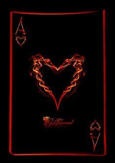 """A"" ! - Ace of Hearts by LadyCarnal.(@deviantART)"