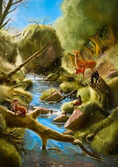Metsämaisema -trilogian ensimmäinen osa #Tietokonemaalaus #luonto #CG #Heikinkuvituspaja