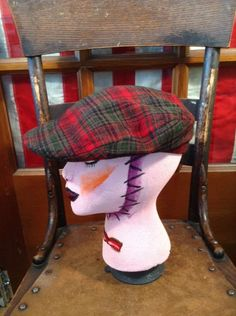 Vintage Pendleton Plaid 100% Virgin  Wool Flat Ivy Cap Cabbie Golf Hat 6 7/8 #Pendelton #NewsboyCabbie