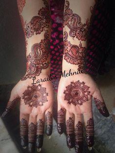 Laraib's mehndi design