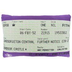 Diamond Jubilee Travelcard cushion.