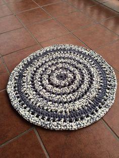 Alfombra de trapillo/ crochet xxl