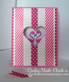 NND July Release - Day 3 - Flirty Flamingos stamp set by Newton's Nook Designs! Diy Father's Day Crafts, Father's Day Diy, Fathers Day Crafts, Paper Crafts, Love Valentines, Valentine Day Cards, Happy Bird Day, Lawn Fawn Stamps, Flamingo Party