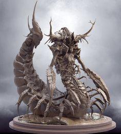 ArtStation - The curse of Serqet, James Suret Alien Creatures, Fantasy Creatures, Mythical Creatures, Fantasy Monster, Monster Art, Dark Fantasy Art, Character Art, Character Design, Alien Concept Art
