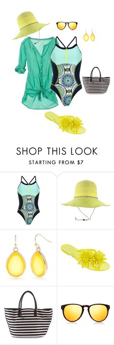 """""""aqua"""" by dana-d-lindsey on Polyvore featuring Sweaty Betty, Pistil, New Directions, Melissa, Charlotte Ronson and Linda Farrow Luxe"""