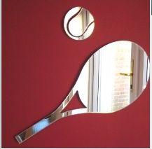 Reflect on this - Tennis Ball & Raquet Mirror #TennisPlanet www.tennisplanet.com