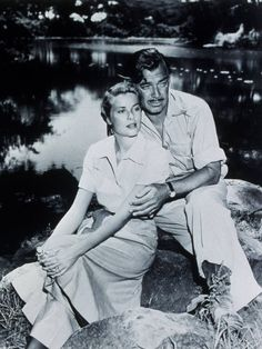 Grace Kelly, Clark Gable in 'Mogambo', 1953