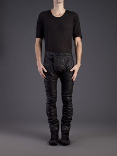 BORIS BIDJAN SABERI - Pig Leather Trousers - P4 F253 C4 - H. Lorenzo