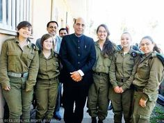 """Israel says it's """"ready and willing"""" to share with India its technology for border protection - Economic Times.  Rajnath Singh, Union Home Minister of India, visits with IDF soldiers at border with Gaza.  India plans to implement some of these technologies to guard its sensitive border with Pakistan."""