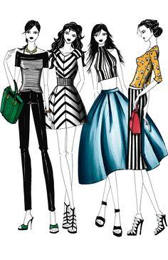 Si lo que te gusta es estar a la moda, acá encontrarás 55 ideas súper chic de total looks con rayas, una de las más importantes tendencias de moda 2015