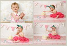 Happy 1st Birthday girls photography cake smash | Happy First Birthday Bella!! » Dani Stevens Photography