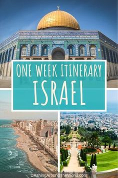 Everything you need to know before travelling to Israel including what to wear when to visit and the absolute must-see sights for a one week Israel itinerary including Tel Aviv Jerusalem Haifa and the West Bank. Cool Places To Visit, Places To Travel, Travel Destinations, Iran Travel, Asia Travel, Prague Travel, Jerusalem, Voyage Israel, Middle East Destinations