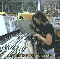 Real music is not on the radio...