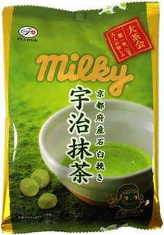 Fujiya Kyoto Green Tea Milky $3.00 http://thingsfromjapan.net/fujiya-kyoto-green-tea-milky/ #green tea candy #Japanese candy #Japanese snack #delicious Japanese snack