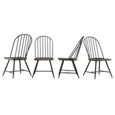 HomeSullivan New Haven Metal Windsor Side Chair in Dark Oak and Black (Set of 4)-405118S4PC - The Home Depot