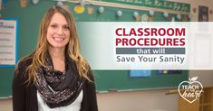 Discover simple classroom procedures that will help your classroom run more efficiently