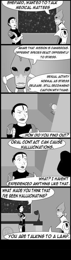 ME2: Hallucinations by *hanaraad on deviantART