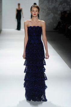 Tadashi Shoji Blue Lace Gown Couture