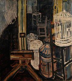 JOHN RANDALL BRATBY Dustbins in the Studio (1954)