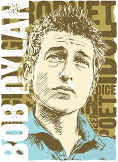Bob Dylan - Pop Art Print - 13x19 by RedRobotCreative