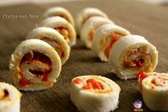 Mini girelle di pane e peperoni, cucina con sara Mini Sandwiches, Pane, Sushi, Garlic, Vegetables, Ethnic Recipes, Food, Essen, Vegetable Recipes