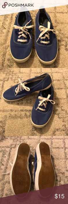 Blue Keds Sneakers Cute blue Keds with white soles and laces. Great condition, only worn a couple of times! Very comfortable shoes! Keds Shoes Sneakers
