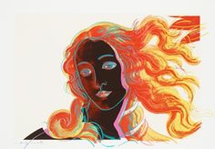 Just because it's gorgeous .. Andy Warhol's Venus (from Details of Renaissance paintings: Sandro Botticelli, Birth of Venus, 1482).