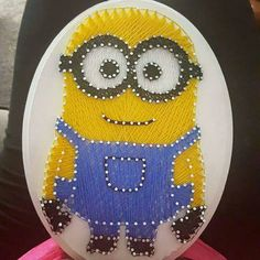 Minion String Art by Amnajera on Etsy https://www.etsy.com/listing/260684772/minion-string-art