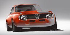 by Lazlo Varga Car Design Sketch, Car Sketch, Automobile, Alfa Alfa, Car Prints, Porsche, Alfa Romeo Cars, Car Illustration, Car Drawings