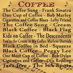 Coffee Music.... follow US on Facebook and like US