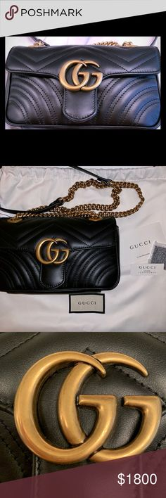3f593c629f4270 Authentic Gucci GG Marmont Mini Authentic Size is between Super mini and  small Brand new unused