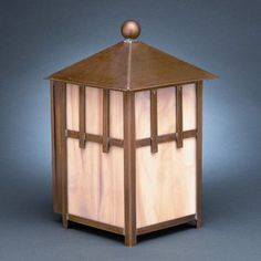 Northeast Lantern Lodge 1 Light Outdoor Flush Mount Finish: Antique Copper, Shade Type: Caramel