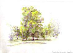 Painting, Art, Gardens, Color Pencil Picture, Drawings, Art Background, Painting Art, Kunst, Paintings