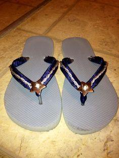 Dallas Cowboy flip flops