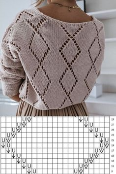 Lace Knitting Stitches, Easy Knitting, Baby Knitting Patterns, Knitting Designs, Crochet Patterns, Crochet Instructions, Knit Fashion, Knitted Blankets, Pulls