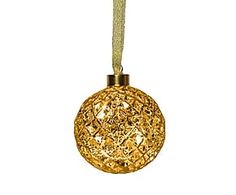 Złote bombki ze szkła i rattanu. Złote bombki jako dekoracja choinki i element świątecznego stroika. Tylko na Westwing codziennie 1000 nowych propozycji!