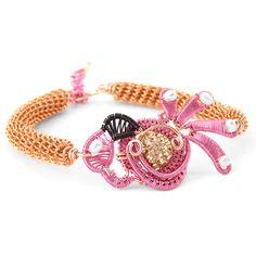 Flamingo wire wrap bracelet Wire Wrapped Bracelet, Animal Jewelry, Wire Wrapping, Flamingo, Crochet Earrings, Handmade Jewelry, Bracelets, Flamingo Bird, Flamingos