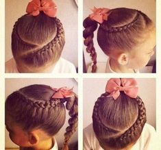 Little Girl Hairstyles Lil Girl Hairstyles, Princess Hairstyles, Pretty Hairstyles, Braided Hairstyles, Hairstyle Names, Girl Hair Dos, Natural Hair Styles, Long Hair Styles, Girls Braids