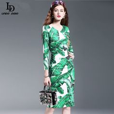 Womens Long Sleeve Pineapple fruit Sequin Beading Printed Sexy Bodycon Dress