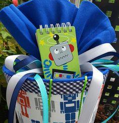 Schultüten - Roboter - Schultüte/ Zuckertüte für Technikfans  - ein Designerstück von XBergDesign2 bei DaWanda