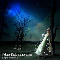 Photoshop tutorial: wedding photo manipulation #wedding #photo #tutorial