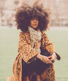 Magnificent fro. Huge Afro. Big hair. Fluffy hair. Beautiful hair. Healthy hair. Long natural hair. Shrunken fro.