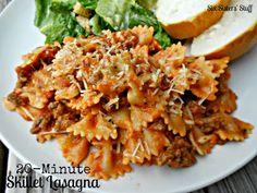 20 Minute Skillet Lasagna | Six Sisters