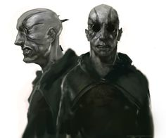 Inquisitors from Brandon Sanderson's Mistborn Trilogy. Such terrifying characters