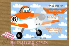 Disney Planes Birthday Party Invitations by RayningGrace on Etsy, $9.00