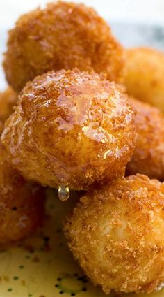 Fried Goat Cheese Balls with Drizzled Honey