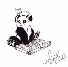 DJ Panda by abbynormality.deviantart.com