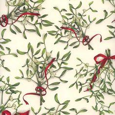 Mistletoe and Ribbons Christmas Paper ~ Tassotti Italy