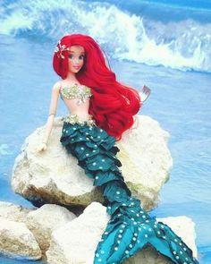 Disney Barbie Dolls, Ariel Doll, Disney Princess Dolls, Mermaid Dolls, Disney Art, Disney Pixar, Walt Disney, Disney Little Mermaids, Ariel The Little Mermaid
